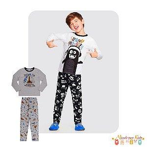 Pijama Funny Em Meia Malha Penteada Alakazoo