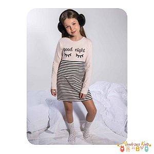 Camisola manga longa em cotton Vic&Vicky Sleep Wear