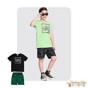 Conjunto de camiseta e bermuda T-Rex Alakazoo