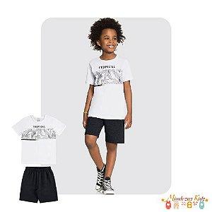 Conjunto de camiseta e bermuda Tropical Alakazoo