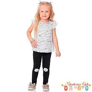 Conjunto Camiseta com Legging Fakini Kids - BLK
