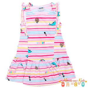Vestido Fakini Menina Estampado - BLK1