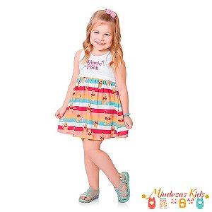 Vestido URSINHO POOH Infantil Fakini - BLK1