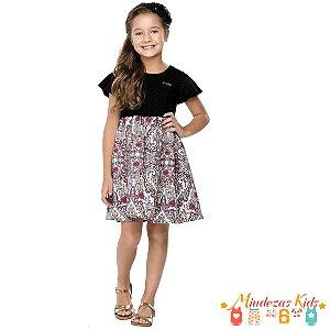 Vestido Infantil Preto Quimby
