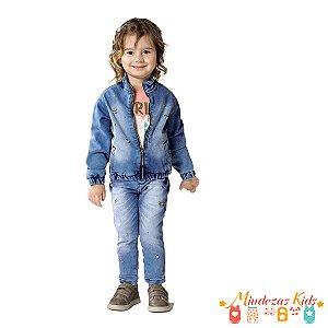 1a90ddc6b Calça Jeans jegging destroyed Preta com strass Feminina Parizi ...
