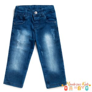 Calça Jeans destroyed com elastano Masculina Parizi - BLK1