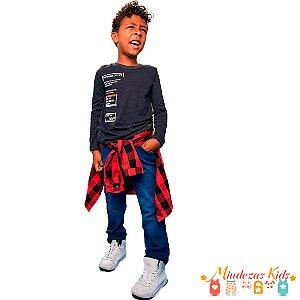 Blusa em malha com estampa frontal Opera Kids - BLK