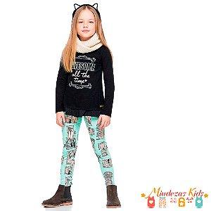 Conjunto Blusa e Calça Quimby Awesome - BLK