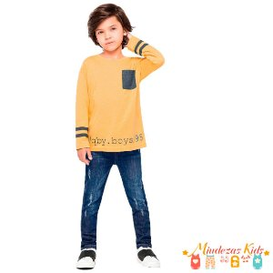 Conjunto Blusa e Calça Jeans Quimby