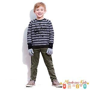 Conjunto de blusão de moletom e calça de sarja Luc.boo - BLK