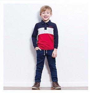 Conjunto de camisa polo e calça jeans Luc.boo - BLK