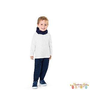 Calça de Moletom Flanelada Infantil Menino Fakini - BLK