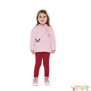 Conjunto Moletom Infantil Panda Fakini For Fun