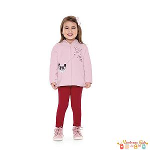 Conjunto Moletom Infantil Panda Fakini For Fun - BLK1