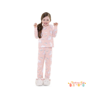 Pijama Infantil em malha Unicórnio Fakini - BLK1