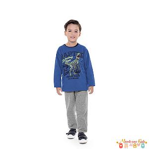 Conjunto blusão e calça de Moletom Raptor Fakini - BLK
