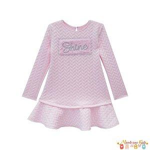 Vestido em malha Jacquard Shine Infanti - BLK1