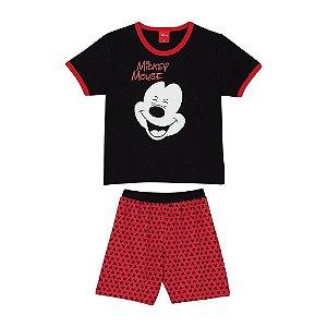 Pijama Menino Disney K M Mickey - brilha no escuro - Lupo - BLK1