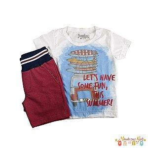 Conjunto de camiseta e bermuda Planeta Pano - BLK1