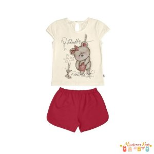 Conjunto de blusa com shorts Rovitex Kids - BLK1