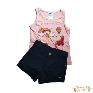 Conjunto regata com shorts Rovitex Kids - BLK1