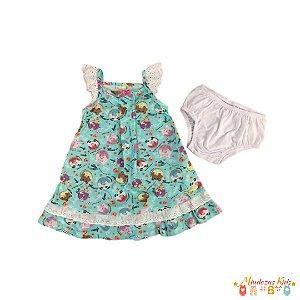 Conjunto vestido com calcinha Planeta Pano - BLK1