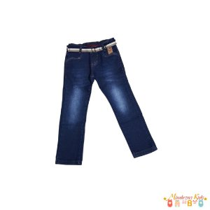 Calça jeans com cinto Mindi - BLK1
