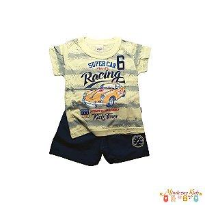 Conjunto blusa e shorts Elian - BLK1