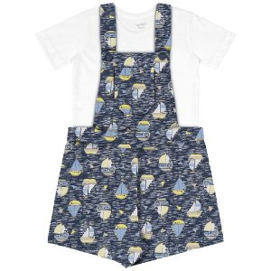 Jardineira e camiseta bebê menino Rovitex - BLK1