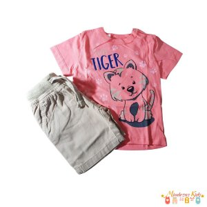 Conjunto camiseta e bermuda tiger Rovitex Kids - BLK1