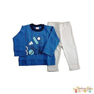 DUPLICADO - Conjunto de camiseta e bermuda em moletom Planeta Pano - BLK1