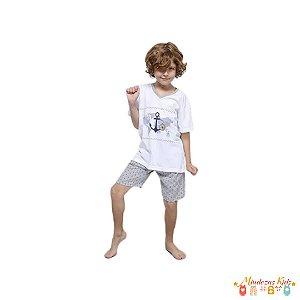 Pijama camiseta e shorts estampado Eureka - Lupo - BLK1