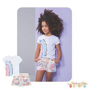 Conjunto T-shirt e shorts Le Petit Kukie