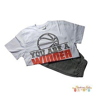 Conjunto Camiseta com Bermuda em moletom Rovitex Kids - BLK1