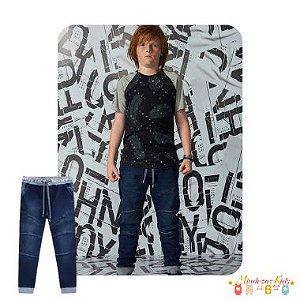 Calça em malha jeans com elastano Johnny Fox