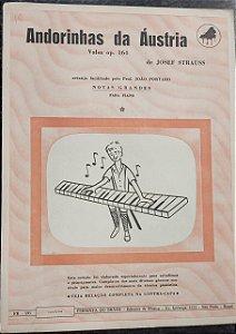 ANDORINHAS DA ÁUSTRIA (Valsa opus 164) - partitura para piano - Josef Strauss