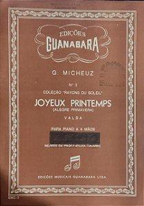 JOYEUX PRINTEMPS (Alegre Primavera) - partitura de piano a 4 mãos - G. Micheuz