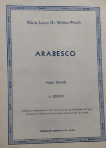 ARABESCO - partitura para piano - Maria Luisa de Mattos Priolli