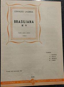 BRASILIANA N° 9 - partitura para piano - Osvaldo Lacerda