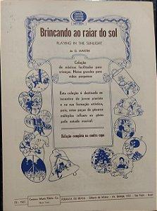 BRINCANDO AO RAIAR DO SOL - partitura para piano - G. Martin