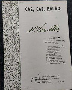 CAE, CAE, BALÃO - partitura para piano - Villa-Lobos