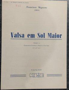 VALSA EM SOL MAIOR - partitura para piano - Francisco Mignone