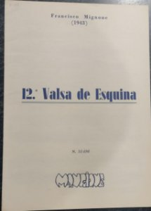 VALSA DE ESQUINA N° 12 - partitura para piano – Francisco Mignone