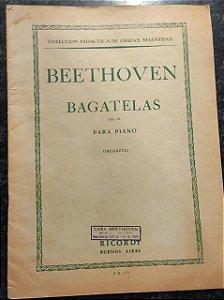 BAGATELAS OPUS 33 - partitura para piano - Beethoven