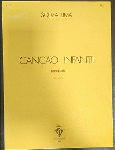 CANÇÃO INFANTIL (Berceuse) - partitura para piano - Souza Lima