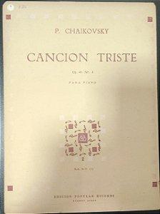 CANÇÃO TRISTE Opus 40 n° 2 – partitura para piano – Tschaikowsky (Ricordi Buenos Aires)