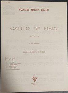 CANTO DE MAIO - partitura para piano - Mozart