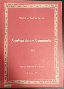 CANTIGA DE UM CAPONÊS - partitura para piano - Meyre M. Garcia Brum