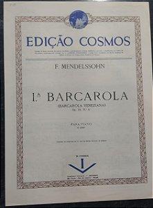 BARCAROLA VENEZIANA (1ª BARCAROLA) Opus 19 nº 6 - partitura para piano - Mendelssohn
