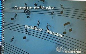 Caderno De Música Pequeno Musimed – Capa azul